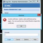 خطای Login Error Invalid Certificate در استوریج EMC Avamar