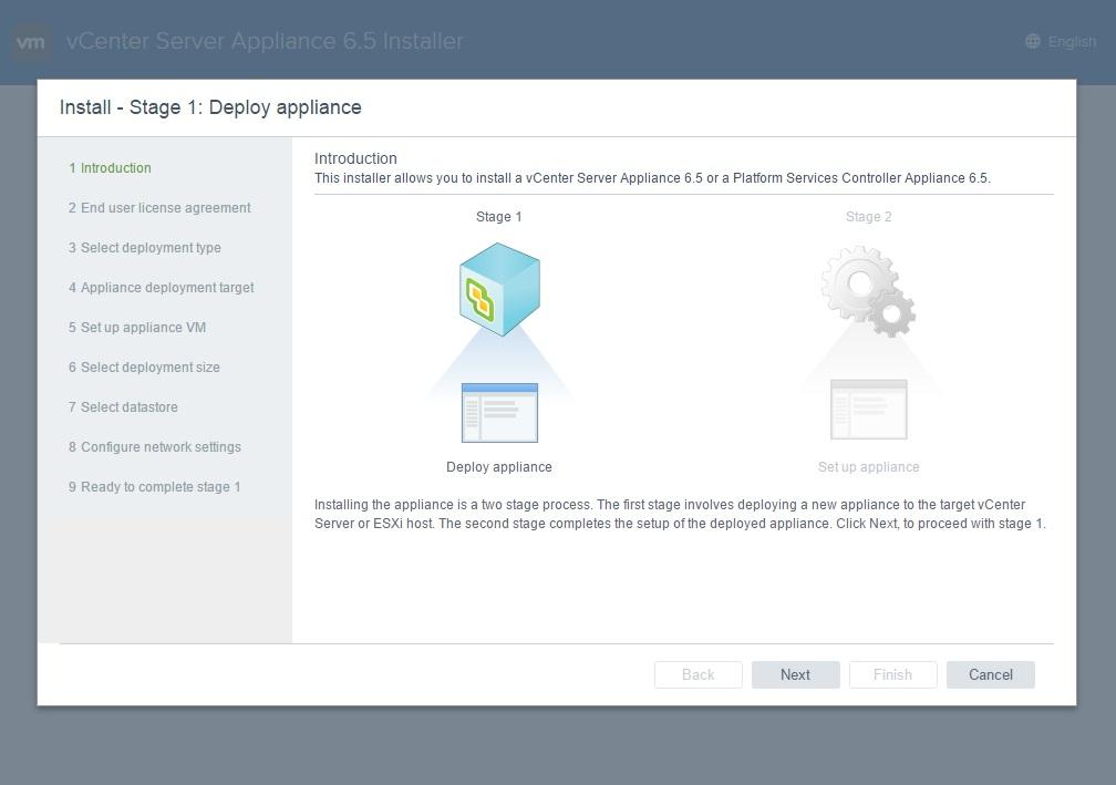 نصب نرم افزار VMware Vcenter Server 6.5 RC