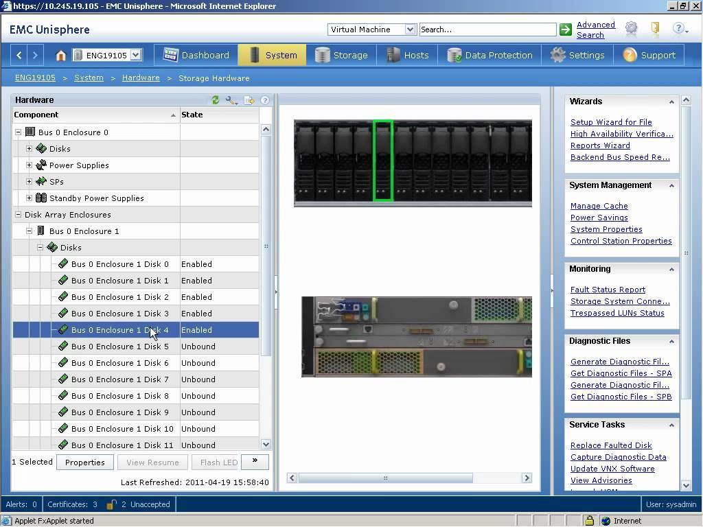 نرم افزار EMC Unisphere